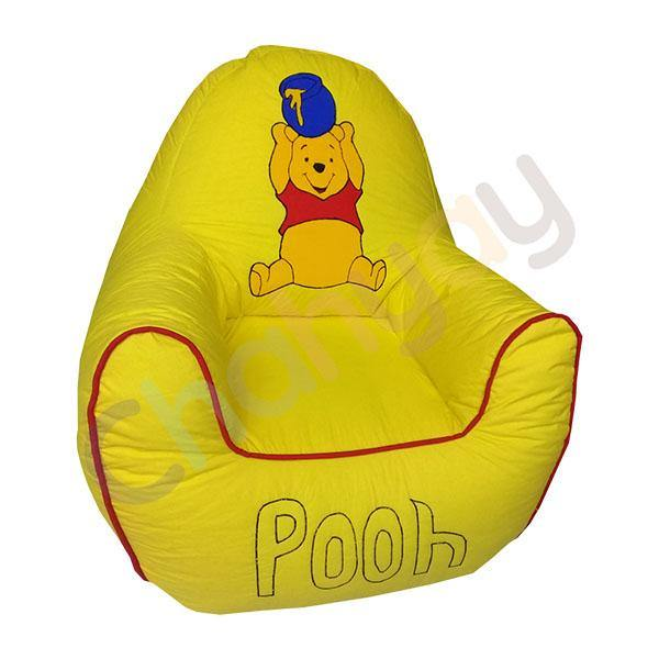 Pooh Yellow Motif Kids Bean Bag Sofa