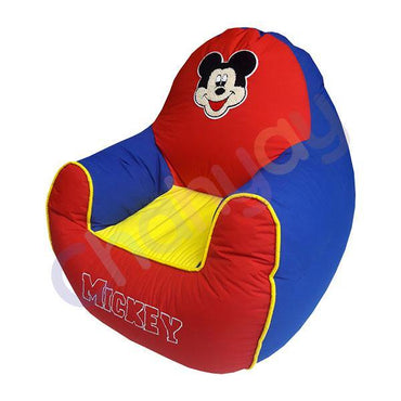 Mickie Motif Red & Blue Kids Bean Bag Sofa