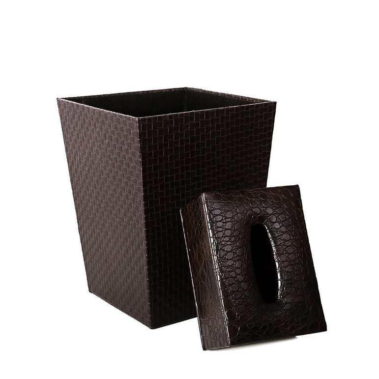 Fortun Leather Dustbin Set