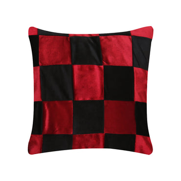 Maze of Red & Black Cushion Cover