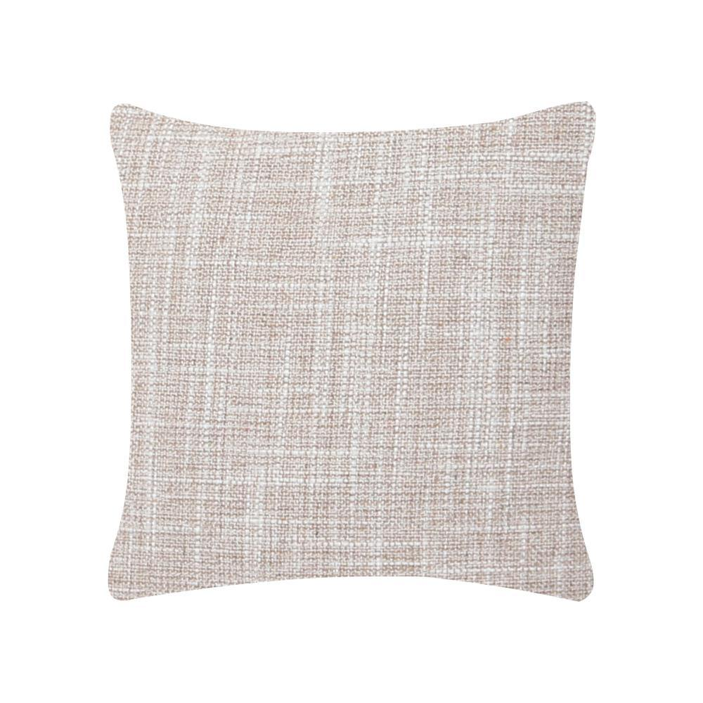 Creamy Jute Cushion Cover