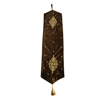 Velvet with Tilla work Table Runner