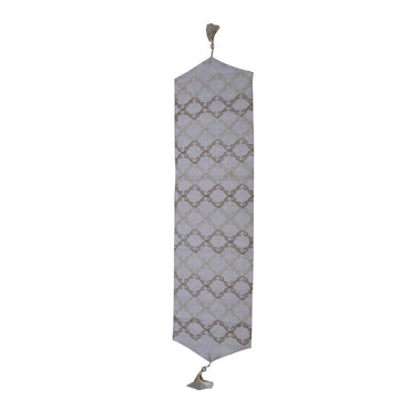 Grey and Silver Coral Table Runner