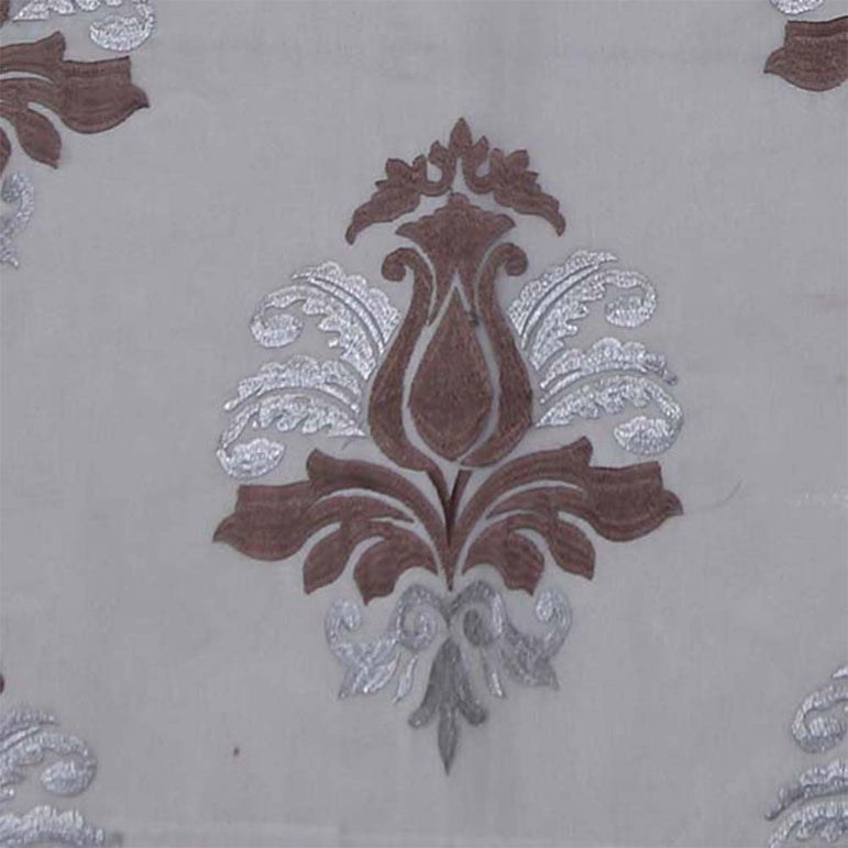 Silver and Brown Traditional Table Runner