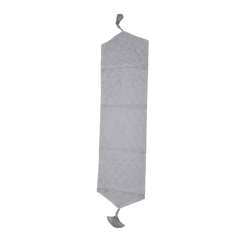 White Cambaya Table Runner