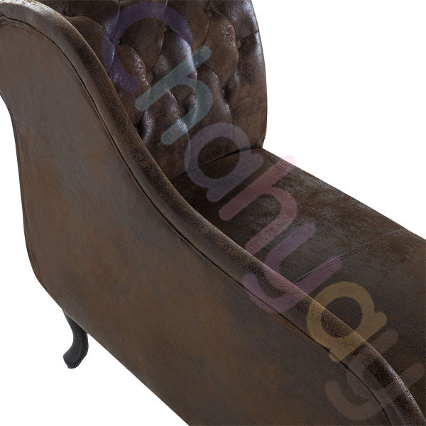 Right Hand Chaise Longue Suede Brown NOMZ