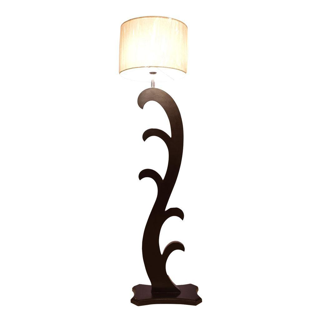 Burrows Wooden Floor Lamp