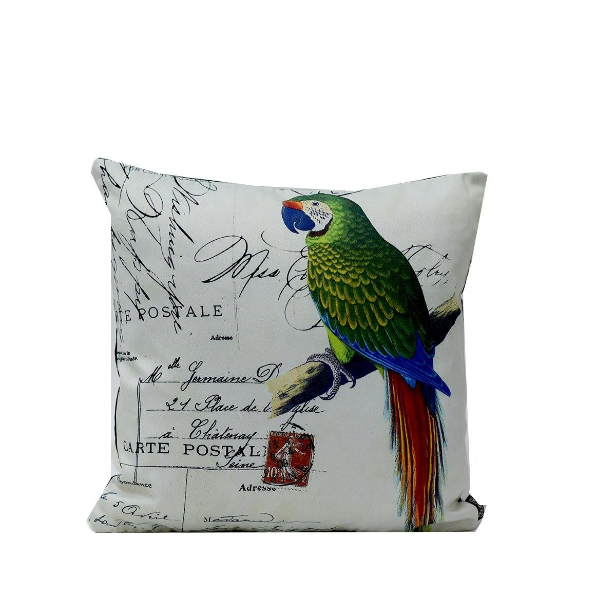 Green Parrot Digital Cushions