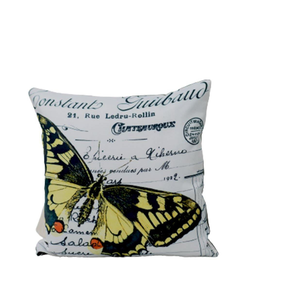 Yellow Butterfly Digital Cushions