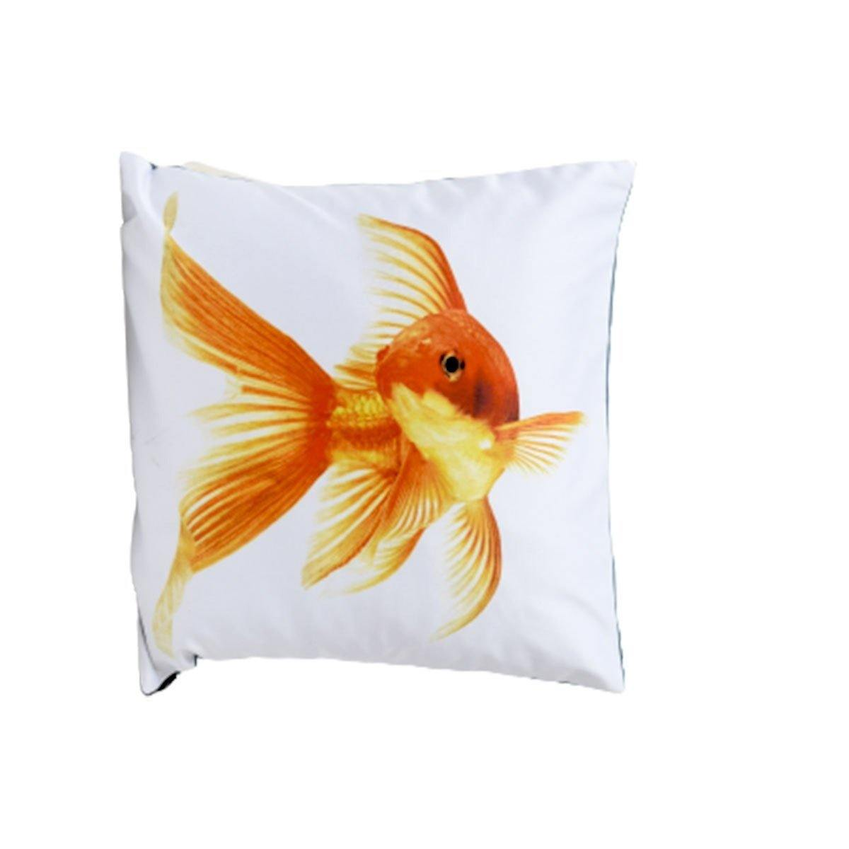 Orange fish digital cushion