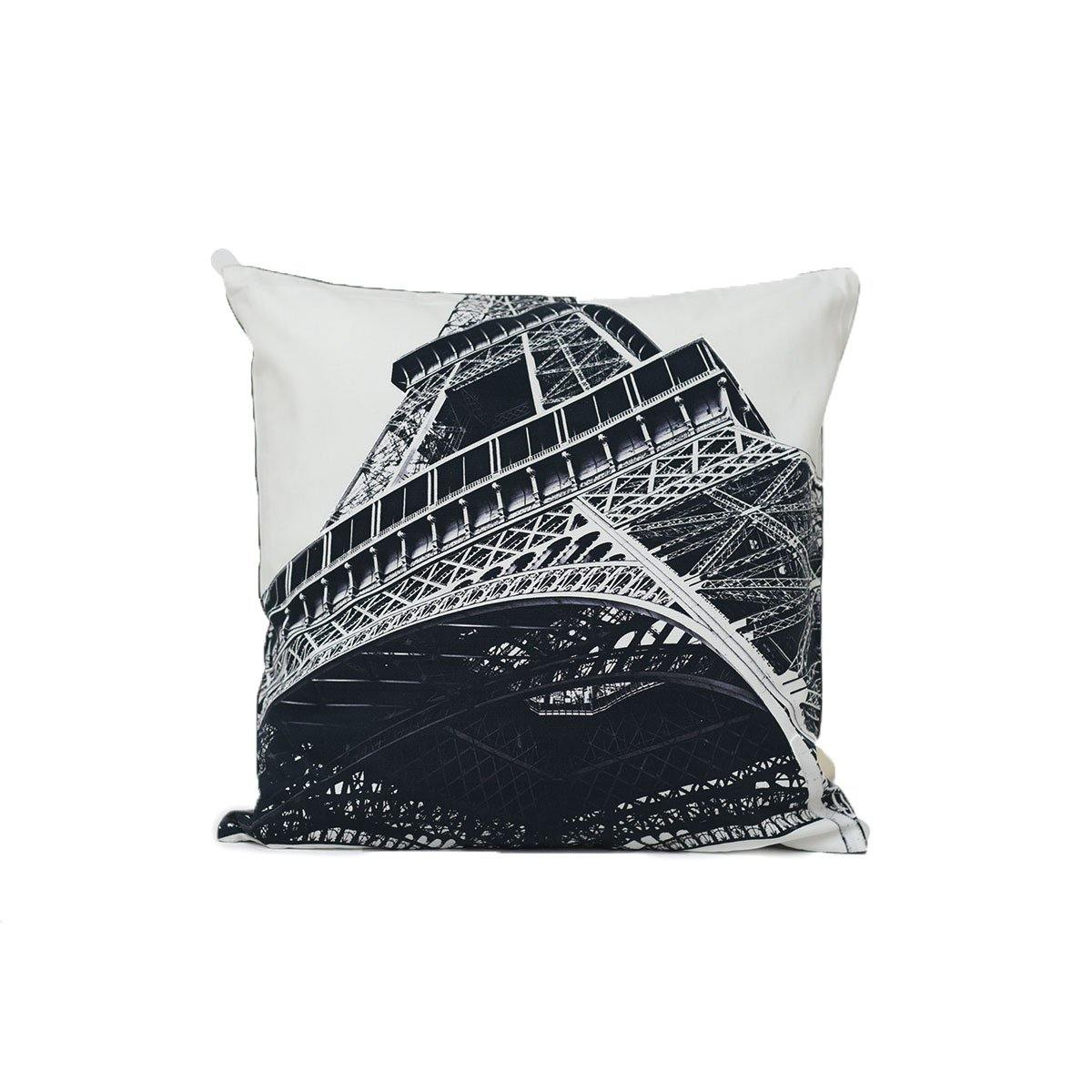 Eiffel Tower Black Digital Cushions