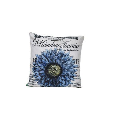 Blue Sunflower Digital Cushion