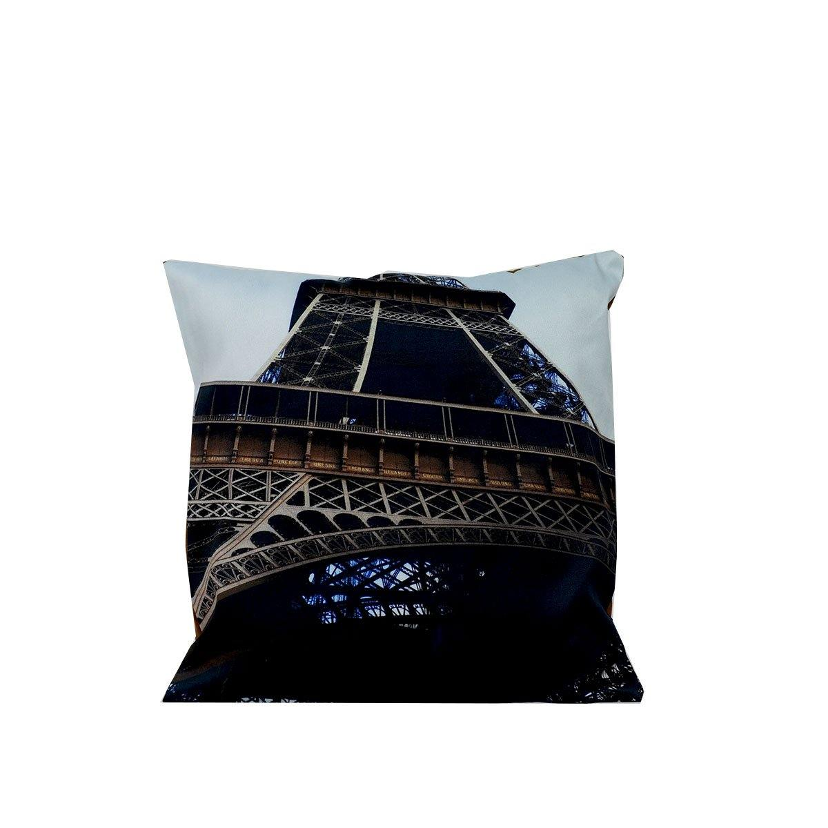 Eiffel Tower Blue Digital Cushions
