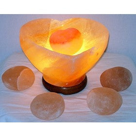 Salt Lamp Heart Bowl Shape
