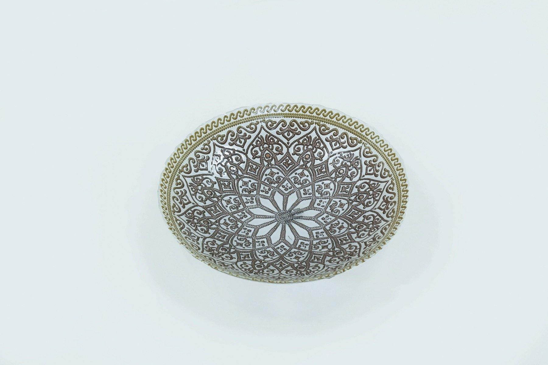 Deco Lulya Gold White Taupe Bowl