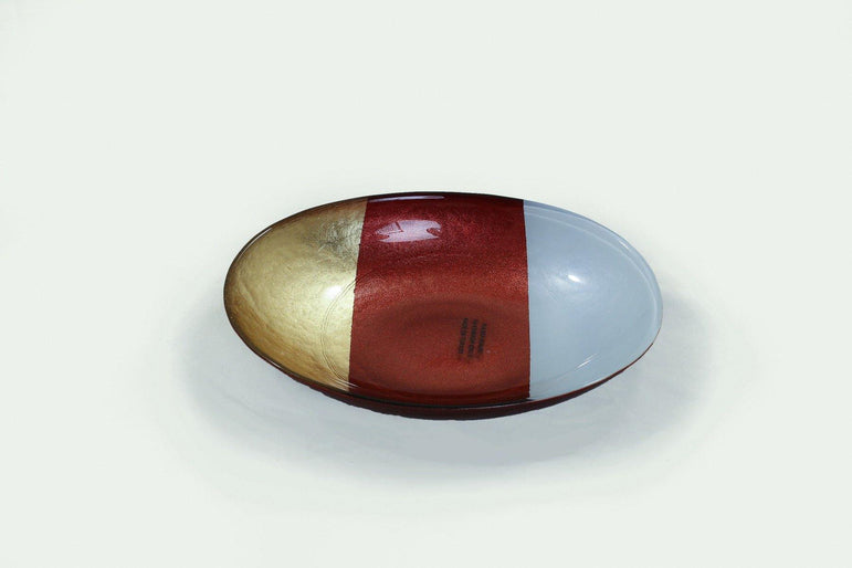 Deco Istanbul Oval Marbeled Mix Colour Bowl