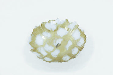 Deco Caldera White Gold Marbeled Bowl