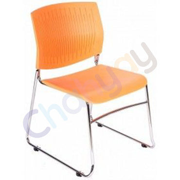 Orange Plastic Office Chair