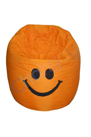 Happy Smiley Beanbag-Orange-M