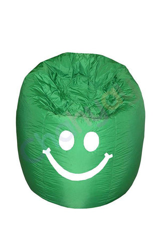 Happy Smiley Beanbag-Dark Green-M