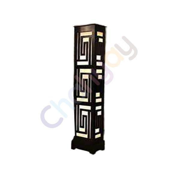 Versace Pattern Rectangular Box Wooden Floor Lamp