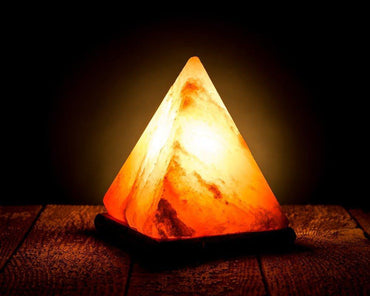 Crystal Rock Pyramid Salt Lamp