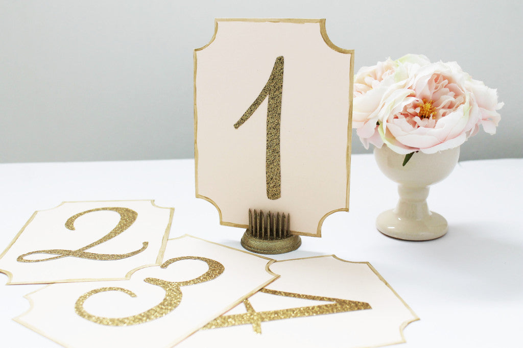 Diy wedding table number cards lydia amp pugs