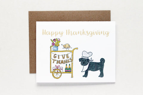 Thanksgiving Bar Cart Card