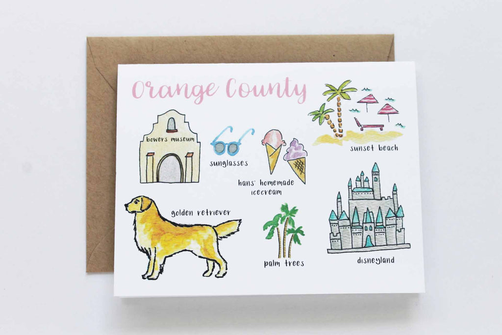 Orange County California Greeting Card