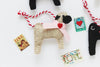 Valentine Pug Ornament - fawn pug with pink collar