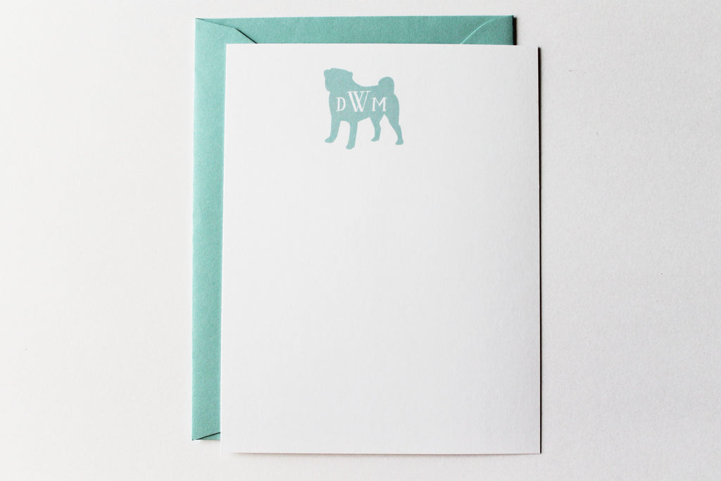 Monogram Dog Card