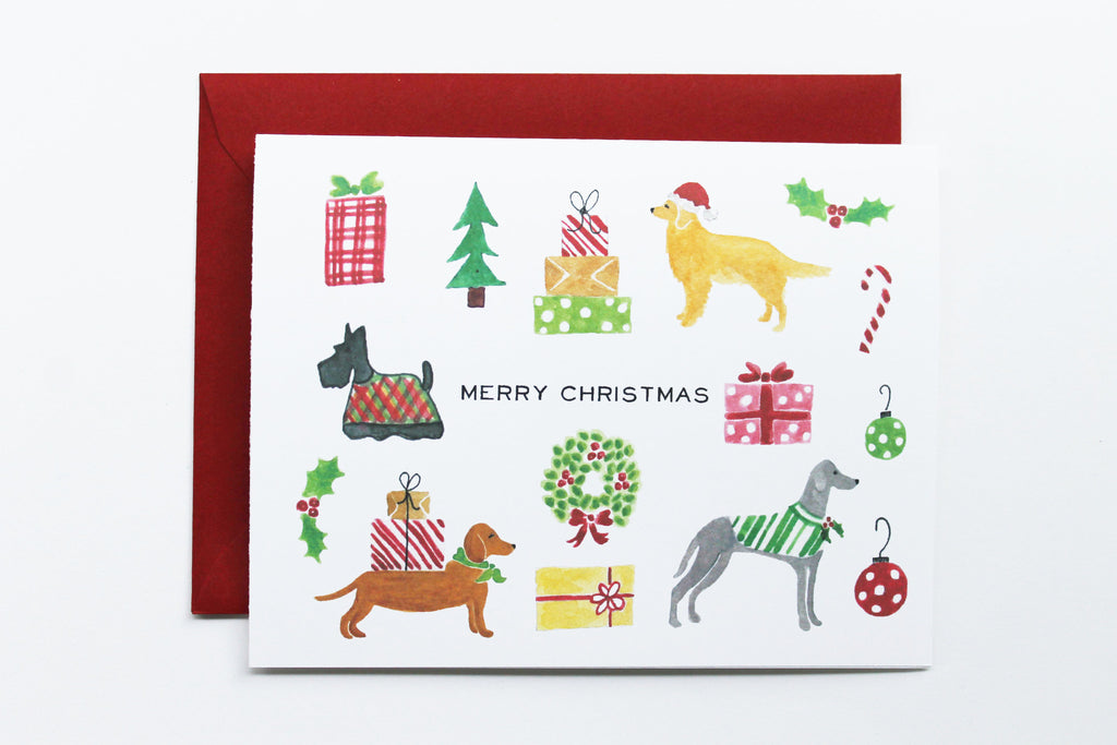 Holiday Dogs Card