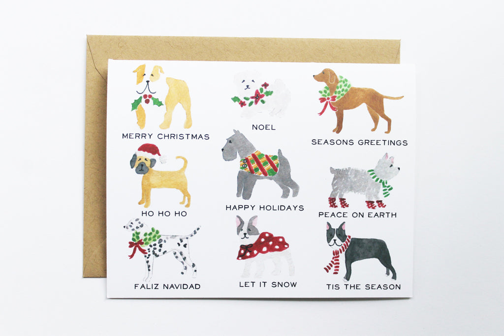 Holiday Dog Greetings Card