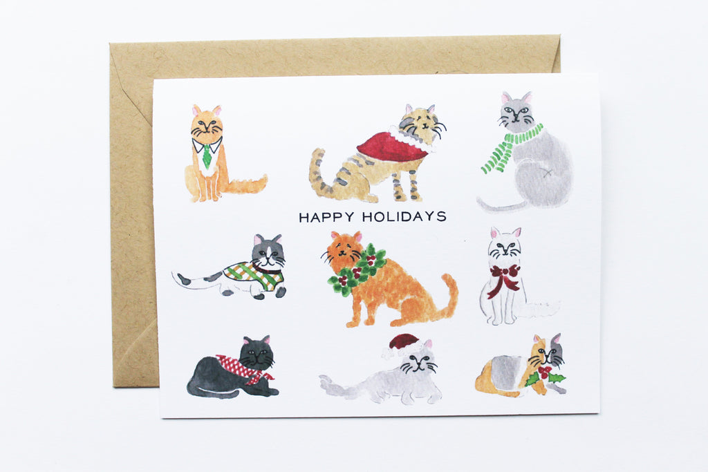Christmas Cats Card