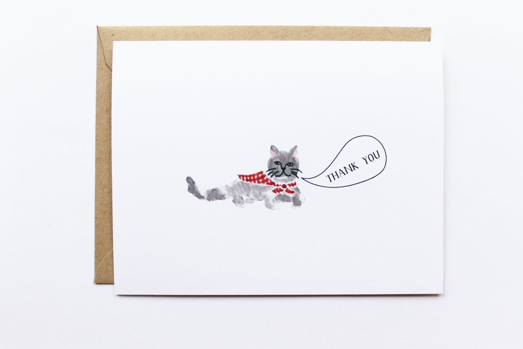 Thank You Grey Cat Card