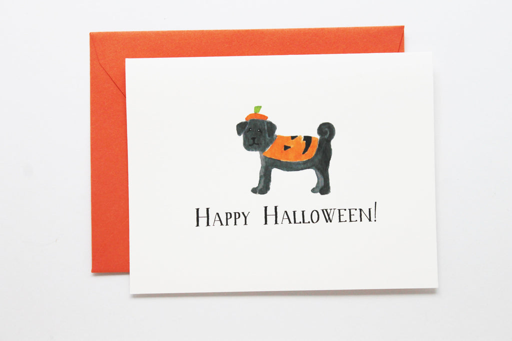 Pumpkin Pug Card