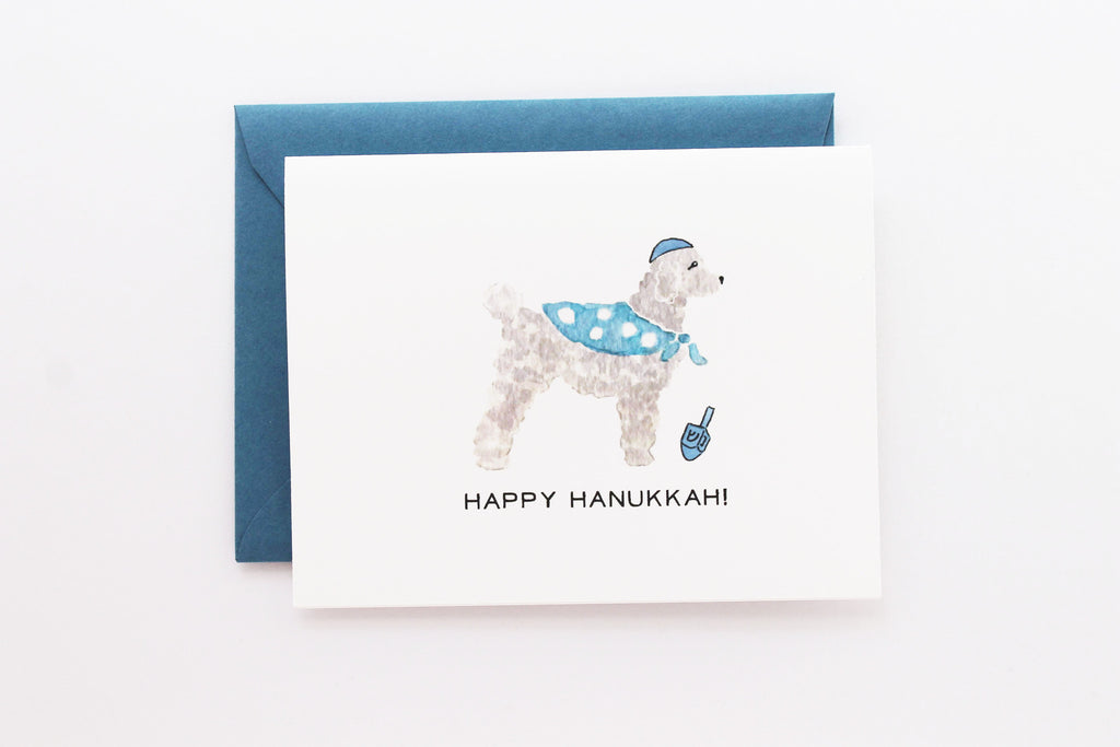 Hanukkah Dog Card