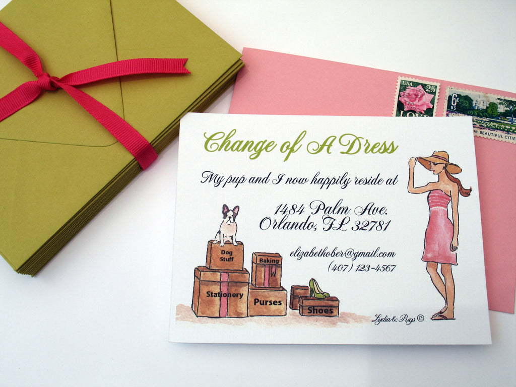 Change of A Dress Card