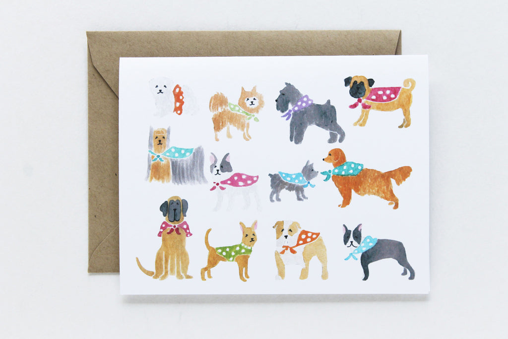Polka-dot Dog Card