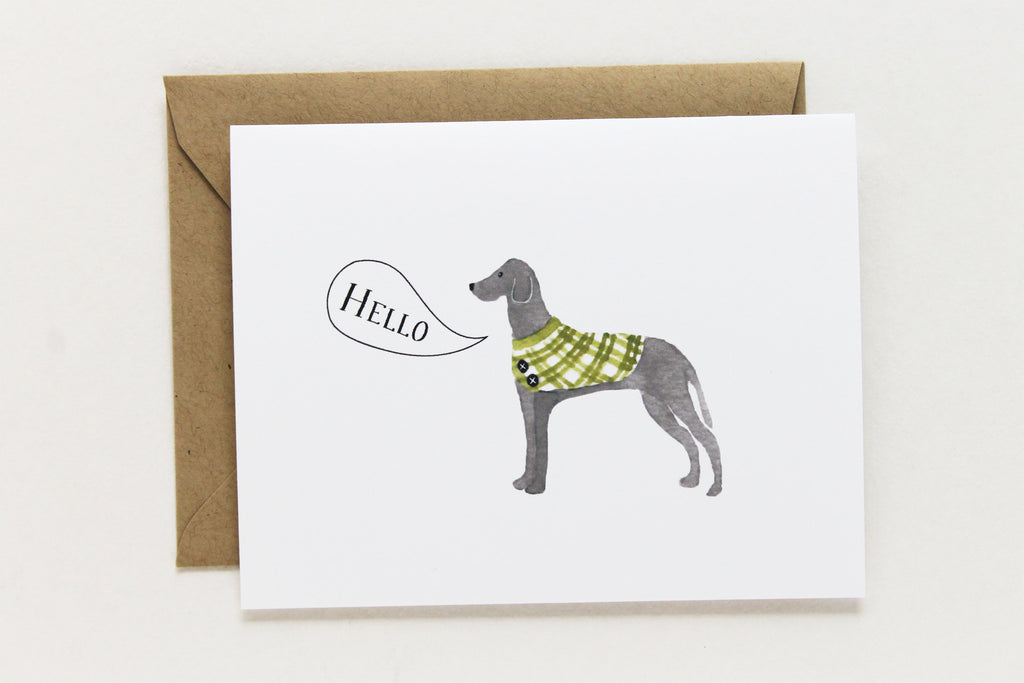 Hello Great Dane Card