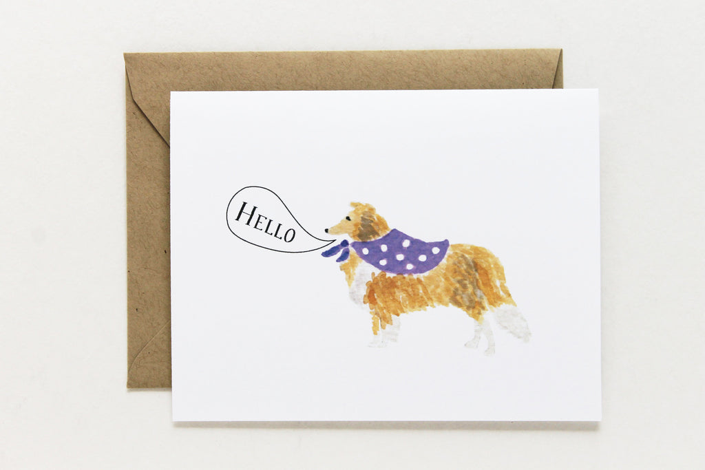 Hello Collie Card