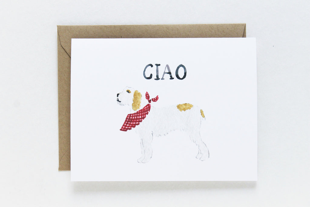 Ciao Dog Card