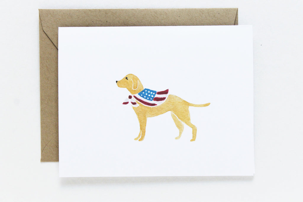 USA Dog Card