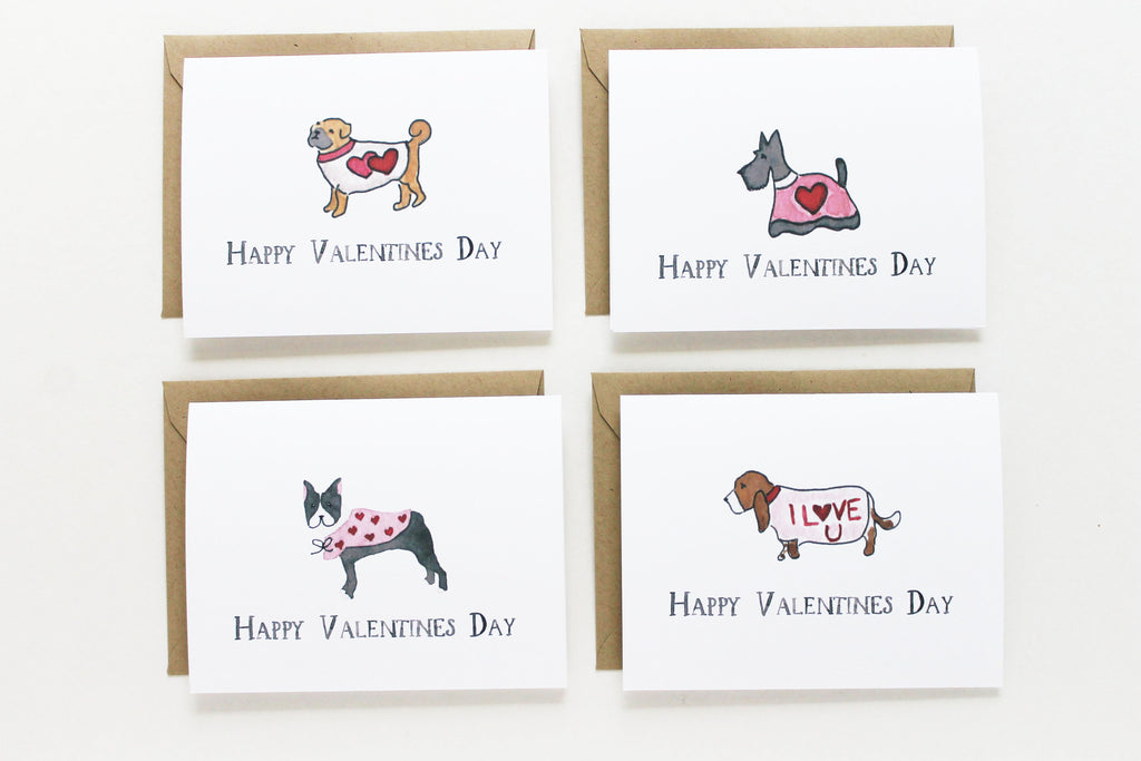 Assorted Valentine Dogs Set