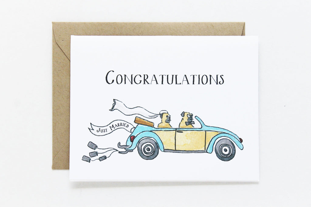 Congratulations Just Married Card