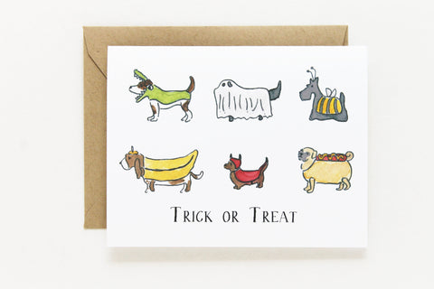Trick-or-Treat Dogs Card