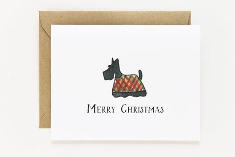 Christmas Scottie Card