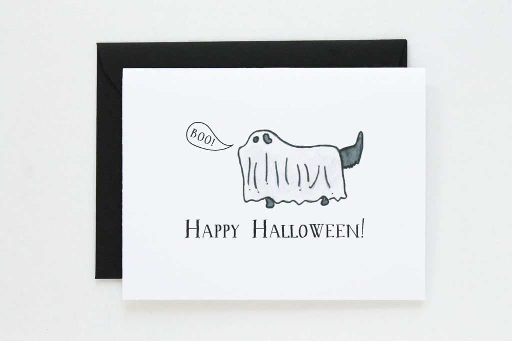 Black Lab Ghost Card