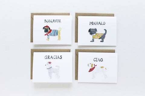 Assorted Greetings Dogs Set