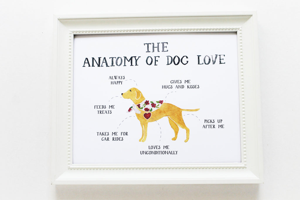 Anatomy of Dog Love Print